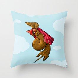 SuperDach Throw Pillow