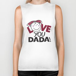 Love You Dada Biker Tank