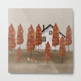 an autumns morning Metal Print