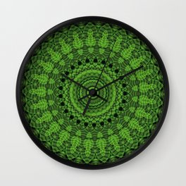 Regardlossly Plaid Mandala 4 Wall Clock