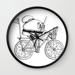 Pizzabike Burger Wall Clock