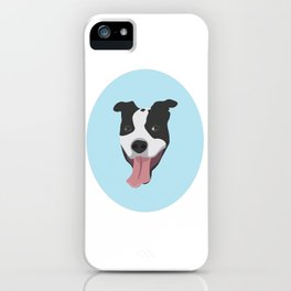 Smiley Pitbull iPhone Case