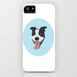 Smiley Pitbull iPhone Case