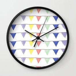 Cheerful pennants Wall Clock