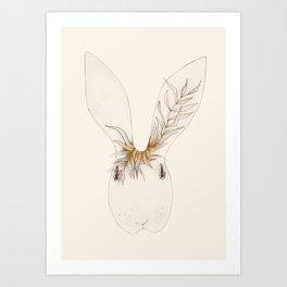 Miss Bunny Golden Brown Art Print