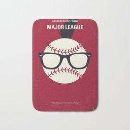 No541 My Major League minimal movie poster Bath Mat