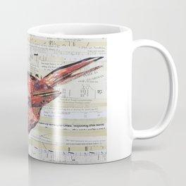 Cardinal / Red Bird Collage by C.E. White Coffee Mug