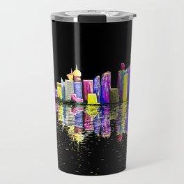 Shanghai Bund Skyline digital Travel Mug