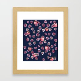 Coffee Lovers floral Framed Art Print