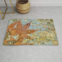 Perky Maple Leaf Abstract Rug
