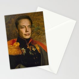 Elon Musk, Classical Painting as General, Regal art Stationery Cards