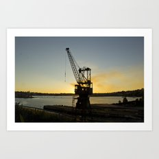 The Forgotten Crane Art Print