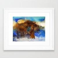 twilight Framed Art Prints featuring Twilight by Iris V.