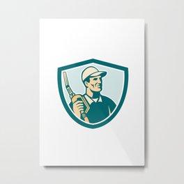 Gasoline Attendant Fuel Pump Nozzle Shield Metal Print
