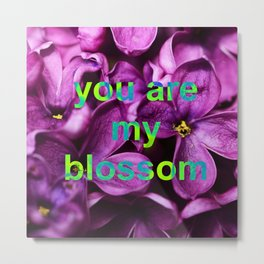 neon lilac blossom love Metal Print