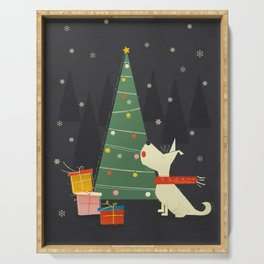 Little White Christmas Westie Serving Tray