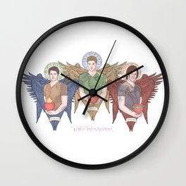 Supernatural Guardian Angels Wall Clock