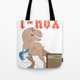 T-Rox T-Rex rocks with guitar Dino Music Gift Tote Bag