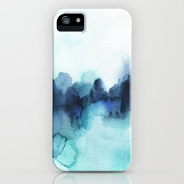 Wonderful blues Abstract watercolor iPhone Case