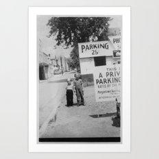 Parking in Morgantown Art Print