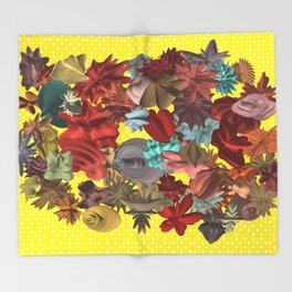 Harmonic Flowers Throw Blanket