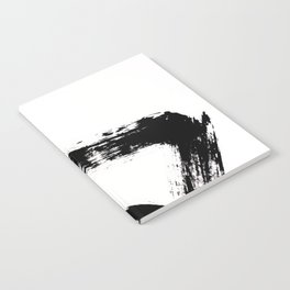 Brushstroke [8] - a simple, abstract, black and white india ink piece Notebook