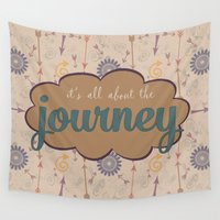 journey Wall Tapestries featuring Journey by Skuishy