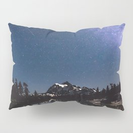 Summer Stars - Galaxy Mountain Reflection - Nature Photography Pillow Sham