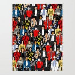 King MJ Pop Music Fashion LV Poster