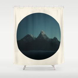 Magic Mountains Against Night Sky Shower Curtain