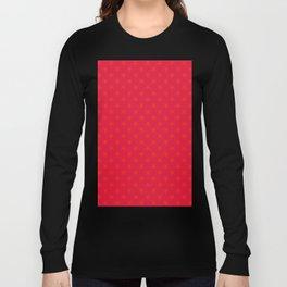 Scarlet Red on Crimson Red Stars Long Sleeve T-shirt