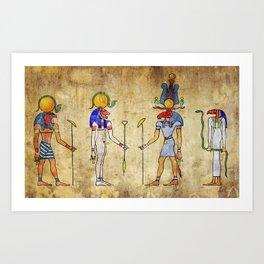 Gods of Ancient Egypt Art Print
