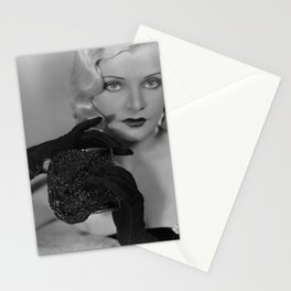 CLAIRE LUCE OPERA GLOVES PHOTOGRAPH ART DECO SULTRY VAMP BLONDE VIXEN Stationery Cards