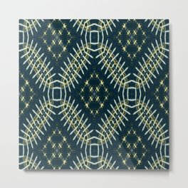 Vividly Mainly Tricolor Pattern 10 Metal Print