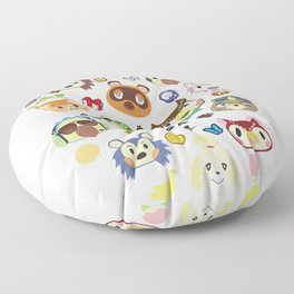 animal crossing cute villagers Floor Pillow