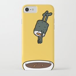 Sushi Jumps Into Soya Sauce iPhone Case