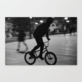 Ride the night Canvas Print