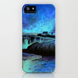 East Lyn river waterfall iPhone Case