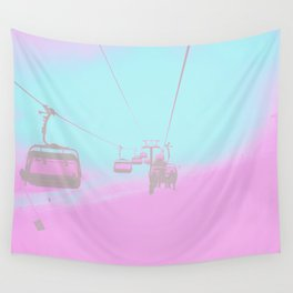 Chair Lift into the Blue Wall Tapestry