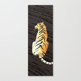 tiger pose with stripes Canvas Print
