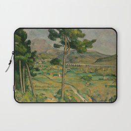 """Paul Cezanne """"Mountain Sainte-Victoire and the Viaduct of the Arc River Valley"""" Laptop Sleeve"""