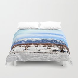 Sayan Mountains Duvet Cover