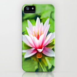 Pink Lotus Waterlily & Green Lily Pads iPhone Case