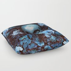 Skull and Flowers Floor Pillow