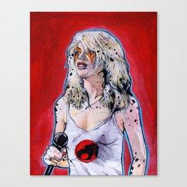 Debbie Harry Cheetara - Rip Her to Shreds Canvas Print