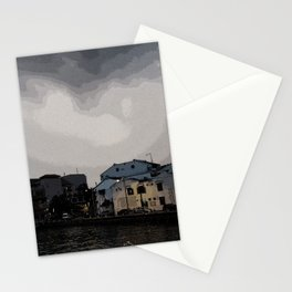 Evening at the Waterfront Stationery Cards