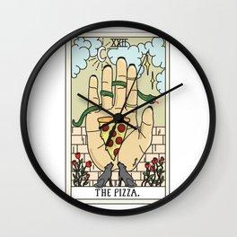 Pizza Reading Wall Clock