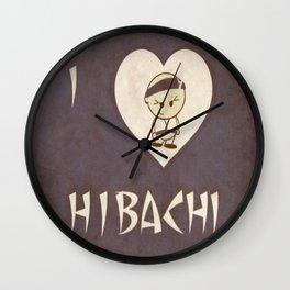 I Luv Hibachi Vintage Style Wall Clock