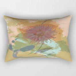 Autumnal Brushstrokes, Abstract Floral Art Rectangular Pillow