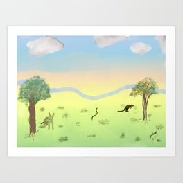 Dawn In The Australian Bush Art Print